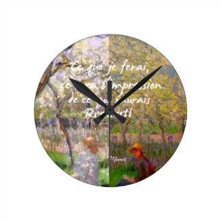 Relógio Redondo A mudança das estações renova minha alma