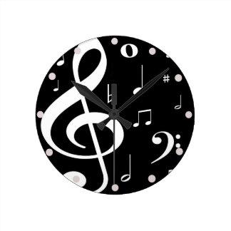 Relógio Redondo A música nota o pulso de disparo
