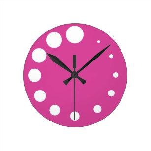 189b0202be1 Relógio Redondo A paleta do pintor cor-de-rosa