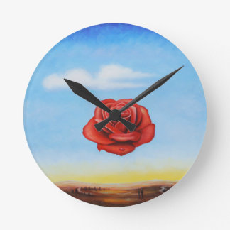 Relógio Redondo a pintura famosa surrealista aumentou da espanha