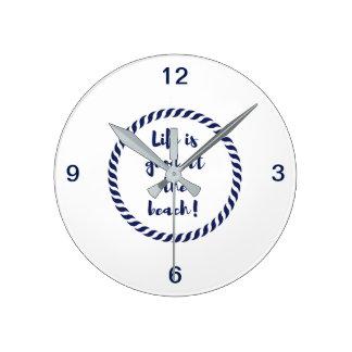 Relógio Redondo A vida é…