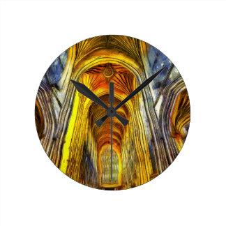 Relógio Redondo Abadia Van Gogh do banho