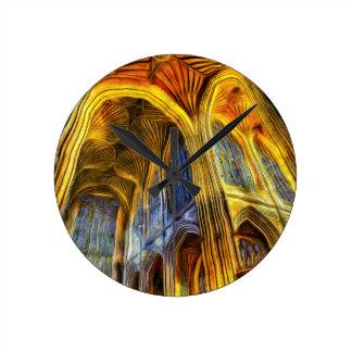 Relógio Redondo Abadia Vincent van Gogh do banho