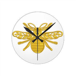 Relógio Redondo abelha real, imitação do bordado