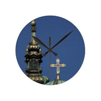Relógio Redondo Abóbadas ortodoxos da igreja cristã
