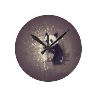 Relógio Redondo Abstrato bonito da panda
