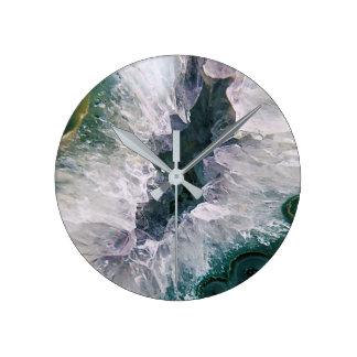 Relógio Redondo Abstrato da ametista