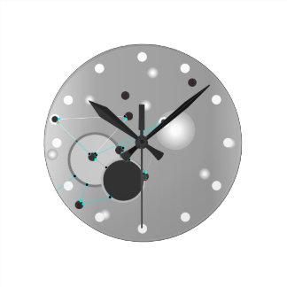 Relógio Redondo Abstrato das cinzas das CONEXÕES | do TEMPO