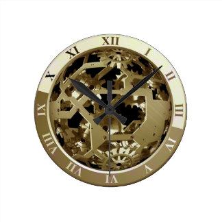 Relógio Redondo Abstrato das engrenagens do pulso de disparo do