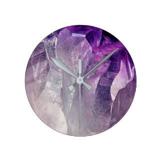 Relógio Redondo Abstrato de cristal do núcleo
