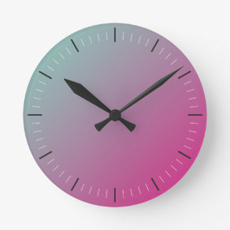 Relógio Redondo Abstrato do ROSA QUENTE e da CERCETA |