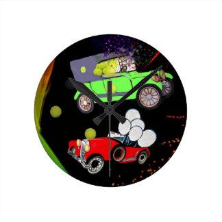 Relógio Redondo Abundância velha do carro da forma de bolas de