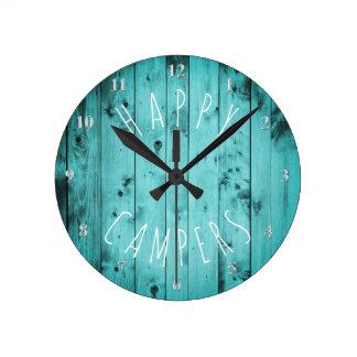 Relógio Redondo Acampamento de madeira da aposentadoria rv de
