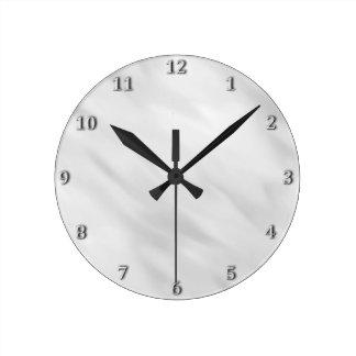 Relógio Redondo Acessório de prata enevoado elegante do banho do