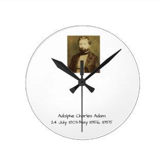 Relógio Redondo Adolfo Charles Adam, 1855