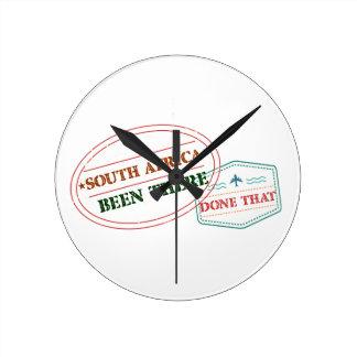 Relógio Redondo África do Sul feito lá isso