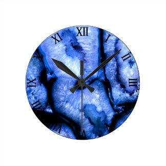 Relógio Redondo Ágata azul