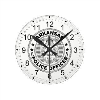 Relógio Redondo Agente da polícia de Arkansas