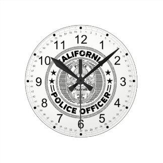 Relógio Redondo Agente da polícia de Califórnia