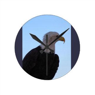 Relógio Redondo Águia americana