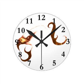 Relógio Redondo águia do pulso de disparo da arte do pássaro