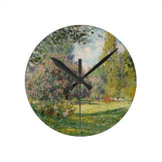 Relógio Redondo Ajardine o Parc Monceau - Claude Monet