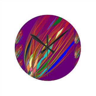 Relógio Redondo Alargamento do fogo: Arte HandCrafted celebração: