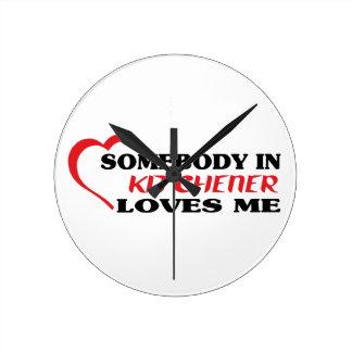 Relógio Redondo Alguém em Kitchener ama-me