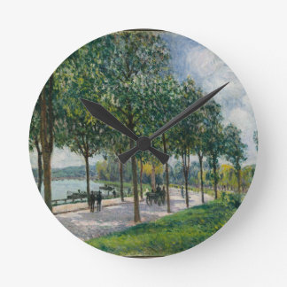 Relógio Redondo Allée de árvores de castanha - Alfred Sisley