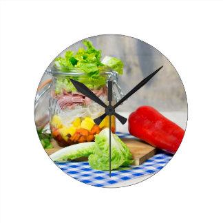 Relógio Redondo Almoço em um vidro