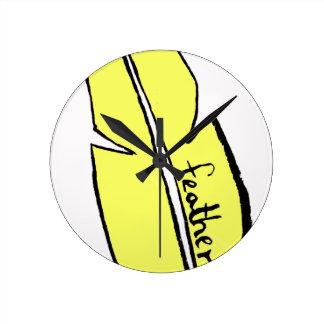 Relógio Redondo amarelo da pena