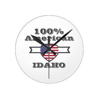 Relógio Redondo Americano de 100%, Idaho