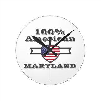 Relógio Redondo Americano de 100%, Maryland