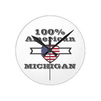 Relógio Redondo Americano de 100%, Michigan