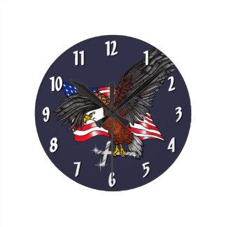 Relógio Redondo Americano Eagle com cruz