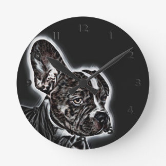 Relógio Redondo Amigo bonito preto e branco