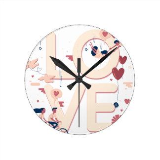 Relógio Redondo Amor