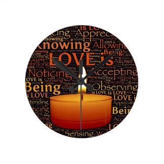 Relógio Redondo Amor, citações da vela