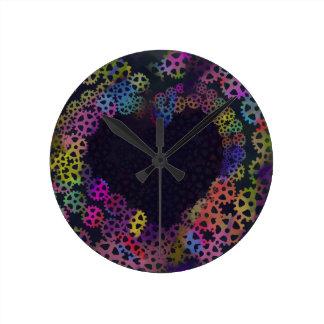 Relógio Redondo Amor da engrenagem