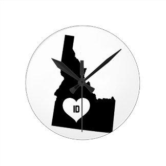 Relógio Redondo Amor de Idaho