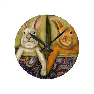 Relógio Redondo Amor do coelho