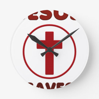 Relógio Redondo Amores de Jesus, religião Cross.pn da cristandade
