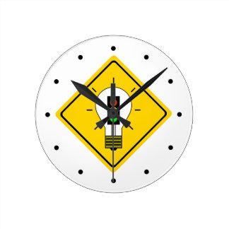 Relógio Redondo Ampola do sinal de trânsito adiante