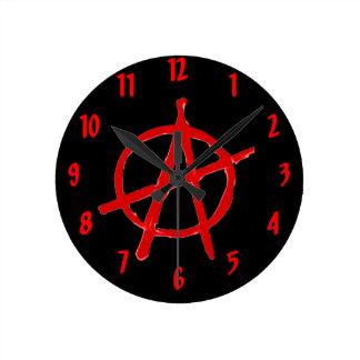 Relógio Redondo Anarquia