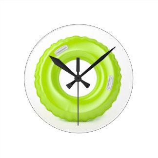 Relógio Redondo Anel verde da natação