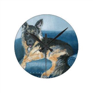 Relógio Redondo Angus o german shepherd