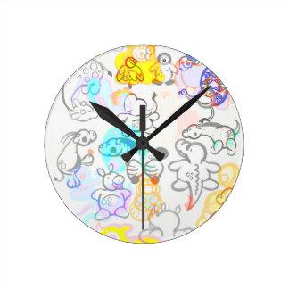 Relógio Redondo Animais africanos e asiáticos!