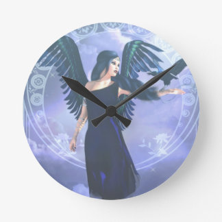Relógio Redondo Anjo escuro