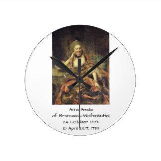 Relógio Redondo Anna Amalia de Brunsvique-Wolfenbuttel 1739