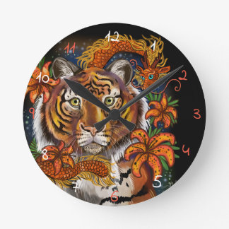 Relógio Redondo Ano chinês do tigre